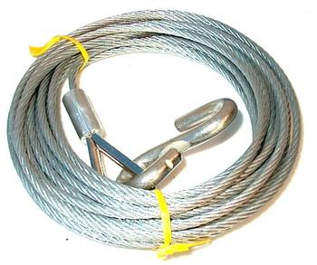 (187714) Winch Cable 5.4mm x 7mtr with hook
