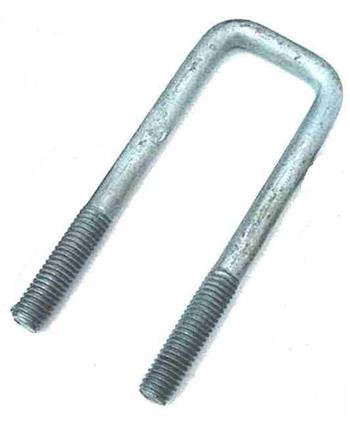 (702322) Square Galvanized U-Bolt  40mm I.D x 150mm
