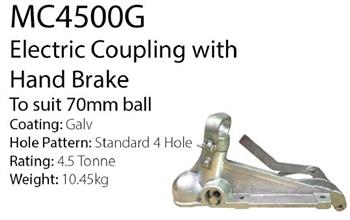 (181921) 70mm Ball Coupling rated at 4500kg